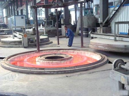 Well flange tempering furnace